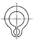付図3 グリップ止め輪(2115)[ファスナばね(2100)、止め輪(2110)、サークリップ(2111)、C形止め輪(2112)、C形同心止め輪(2113)、E形止め輪(2114)、グリップ止め輪(2115)、円弧状ばね(3840)]