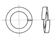 付図4 ファスナばね(2100)、ばね座金(2120)