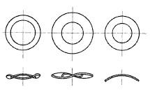 付図7 ファスナばね(2100)、ばね座金(2120)、波形座金(2122)