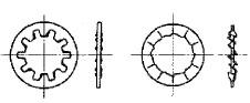 付図8 歯付き座金-内歯形(2124)、ファスナばね(2100)、ばね座金(2120)