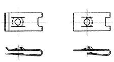 付図12 ファスナばね(2100)、ばね板ナット(2160)