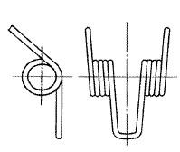 付図31 コイルばね(3200)、ねじりコイルばね(3230)、円筒コイルばね(3241)、自由角度(5524)