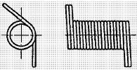 付図32 コイルばね(3200)、ねじりコイルばね(3230)、2本線ねじりコイルばね(3231)、円筒コイルばね(3241)