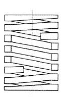 付図41 コイルばね(3200)、圧縮コイルばね(3210)、円筒コイルばね(3241)、異形断面ばね(3272)、角ばね(3273)
