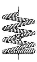 付図42 コイルばね(3200)、圧縮コイルばね(3210)、円筒コイルばね(3241)、より線ばね(3280)