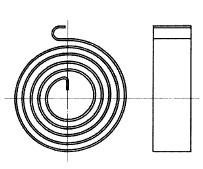 付図44 渦巻きばね(3400)、ぜんまい(3410)、非接触形ぜんまい(3412)