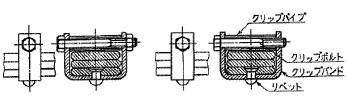 付図75 ボルト形クリップ[クリップ(4150)、クリップバンド(4151)、クリップボルト(4152)、クリップパイプ(4153)]
