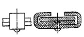 付図75 クリンチ形クリップ[クリップ(4150)、クリップバンド(4151)、クリップボルト(4152)、クリップパイプ(4153)]