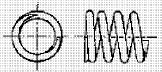 付図83 (b)クローズドエンド(研削)(4217)[圧縮コイルばね端部(4210)、オープンエンド(4211)、クローズエンド(4212)、ピッグテールエンド(4213)、タンジェントテールエンド(4214)、研削エンド(4215)、テーパエンド(4216)、オープンフラットエンド(4217)]
