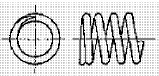 付図83 (c)クローズドエンド(テーパ)(4217)[圧縮コイルばね端部(4210)、オープンエンド(4211)、クローズエンド(4212)、ピッグテールエンド(4213)、タンジェントテールエンド(4214)、研削エンド(4215)、テーパエンド(4216)、オープンフラットエンド(4217)]