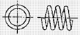 付図83 (d)オープンエンド(無研削)(4217)[圧縮コイルばね端部(4210)、オープンエンド(4211)、クローズエンド(4212)、ピッグテールエンド(4213)、タンジェントテールエンド(4214)、研削エンド(4215)、テーパエンド(4216)、オープンフラットエンド(4217)]