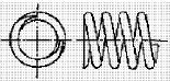 付図83 (e)オープンエンド(研削)(4217)[圧縮コイルばね端部(4210)、オープンエンド(4211)、クローズエンド(4212)、ピッグテールエンド(4213)、タンジェントテールエンド(4214)、研削エンド(4215)、テーパエンド(4216)、オープンフラットエンド(4217)]
