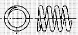 付図83 (f)オープンエンド(テーパ)(4217)[圧縮コイルばね端部(4210)、オープンエンド(4211)、クローズエンド(4212)、ピッグテールエンド(4213)、タンジェントテールエンド(4214)、研削エンド(4215)、テーパエンド(4216)、オープンフラットエンド(4217)]