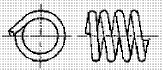 付図83 (g)タンジェントエンド(無研削)(4217)[圧縮コイルばね端部(4210)、オープンエンド(4211)、クローズエンド(4212)、ピッグテールエンド(4213)、タンジェントテールエンド(4214)、研削エンド(4215)、テーパエンド(4216)、オープンフラットエンド(4217)]