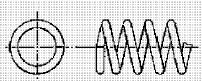付図83 (i)オープンフラットエンド(無研削)(4217)[圧縮コイルばね端部(4210)、オープンエンド(4211)、クローズエンド(4212)、ピッグテールエンド(4213)、タンジェントテールエンド(4214)、研削エンド(4215)、テーパエンド(4216)、オープンフラットエンド(4217)]