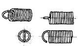 付図84 (a)半丸フック(4223)[引張コイルばね端部(4220)、フック(4221)、丸フック(4222)、半丸フック(4223)、Uフック(4224)、Vフック(4225)、角フック(4226)、逆丸フック(4227)、斜め丸フック(4228)、絞り丸フック(4229)、側面丸フック(4230)、ねじ込みフック(4231)、ねじ込みフックプレート(4232)]
