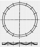 付図94 コイルばね(3200)、圧縮コイルばね(3210)、円筒コイルばね(3241)、コイルドウェーブスプリング(3290)