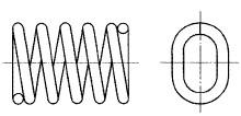 付図95 コイルばね(3200)、圧縮コイルばね(3210)、異形コイルばね(3260)、だ円コイルばね(3261)